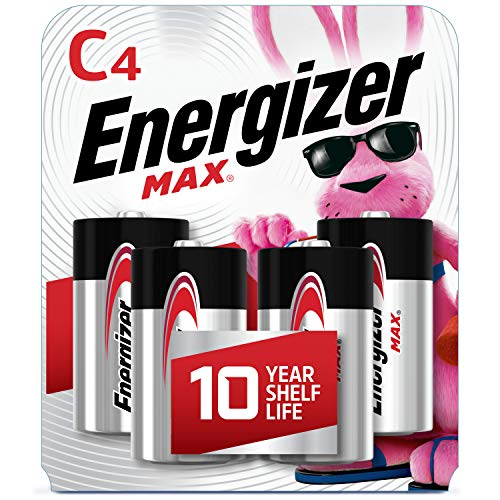 Energizer Max C Batteries, Premium Alkaline C Cell Batteries (4 Battery Count)