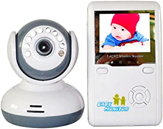 Eleoption 2.4G Wireless Digital Color Display Screen 2.4 inch LCD Receiver Come With Baby Monitor Camera Kit (9020D)