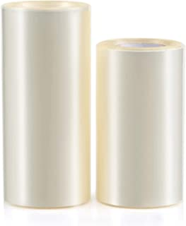 GWHOLE 2 Pack 3.15'' and 4'' Clear Cake Collar Cake Rolls Baking Mousse Surrounding Edge Packaging Wrapping Tape Acetate R...