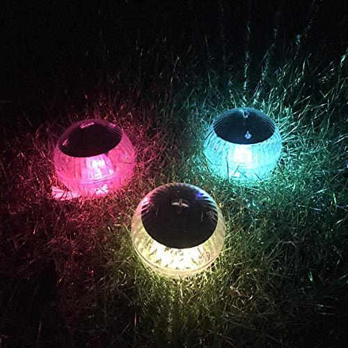 Ajing Solar Floating Light for Pool,IP44 Waterproof Pond Ball Night Light,LED Solar 7 Color Changing/Warm Light Garden Pool Light for Pond/Garden/Yard/Swimming Pool/Fountain/Fish Tank