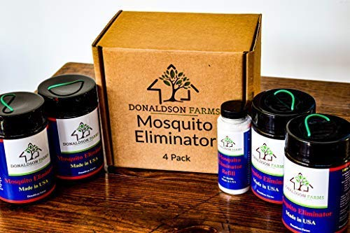 Donaldson Farms Mosquito Eliminator Kit (4 Pack) All Natural and Long Lasting Mosquito Trap Kit.