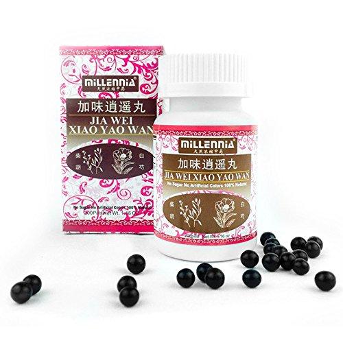Millennia Herbal Supplement- Jia Wei Xiao Yao Wan - 12 Bottle (200 Pills per Bottle)