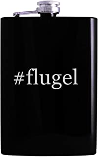 #flugel - 8oz Hashtag Hip Alcohol Drinking Flask, Black