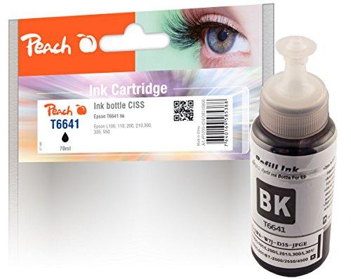 Peach PI200-424 - Cartucho de tinta para impresora Epson T6641 (C13T66414A), color negro