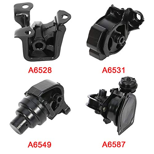 cciyu Engine Motor and Trans Mounts A6528 A6549 A6587 A6531 Set of 4 fit for Honda Accord 1994 1995 1996 1997 2.2L
