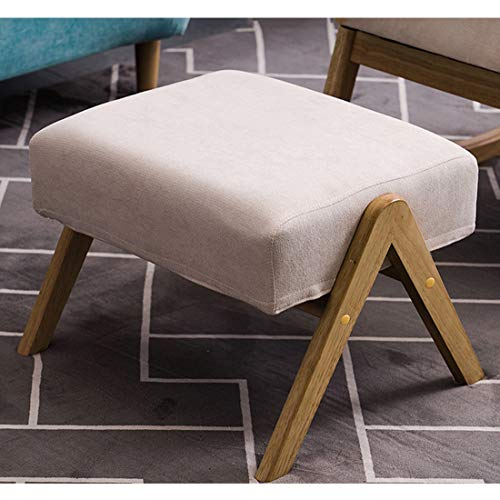 P.chuxinSolid Wood Shoe Changing Stool Stool Footstool Rectangular Beige Seat