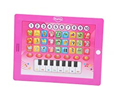 Musical learning kit Learn to read alphabets and numbers 13 note piano keypad Inbuilt charming melodies Friendly voice