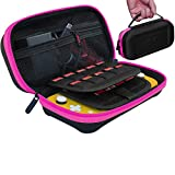 ButterFox Large Carrying Case for Nintendo Switch Lite, Fits Charger, Compatible with Hori Duraflexi Protector, Large Storage Pouch for Switch Lite Accessories (Pink/Black)