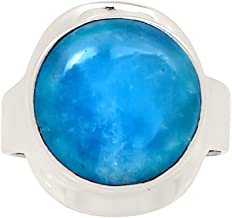 Xtremegems Smithsonite 925 Sterling Silver Ring Jewelry Size 8.5 24382R