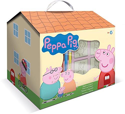 Multiprint Casetta 7 Timbri per Bambini Peppa Pig, 100% Made in Italy, Set Timbrini Bimbi...
