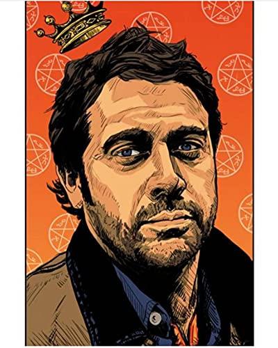 HUYUEXIN Canvas Poster TV Show Supernatural Poster Home Artwork Pittura Divertente Wall Sticker per Coffee House Bar 50 * 70Cm Rapporto qualità-Prezzo Senza Cornice