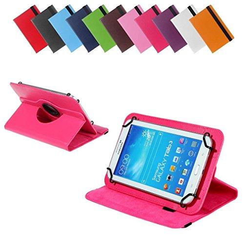 BRALEXX Universal 360° Tablet Tasche passend für i-onik TM3 Serie 1 7 Zoll, 7 Zoll, Pink
