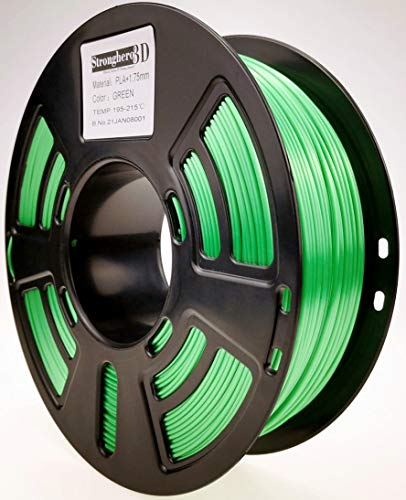 Stronghero3D Desktop FDM 3D printer filament PLA green 1.75 mm 1 kg (2.2 lbs) dimension accuracy of +/-0.05 mm for Ender3 Cr10.