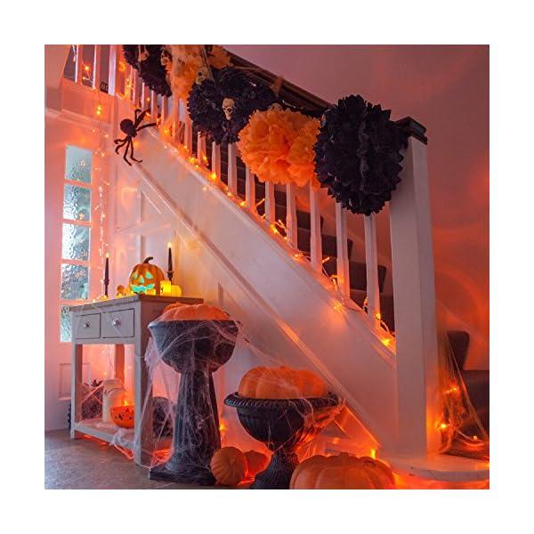Lights4fun Zucca di Halloween a Pile con LED Cambia Colore 4 spesavip
