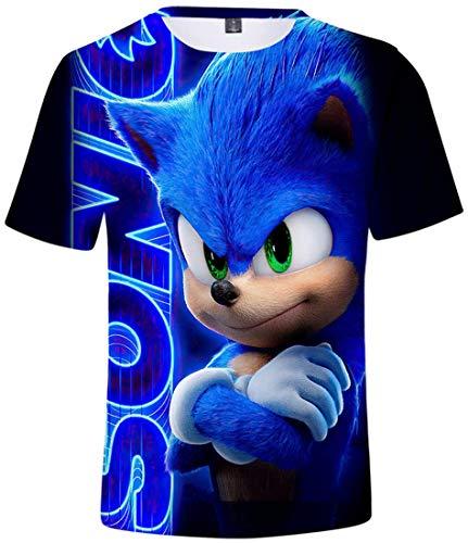 Takyojin Jungen Cool 3D Cartoon T Shirt Sonic The Hedgehog Japanischer Anime Cosplay Kostüm Kurzarm Top Sommer - 6 Arme überkreuzt - 150