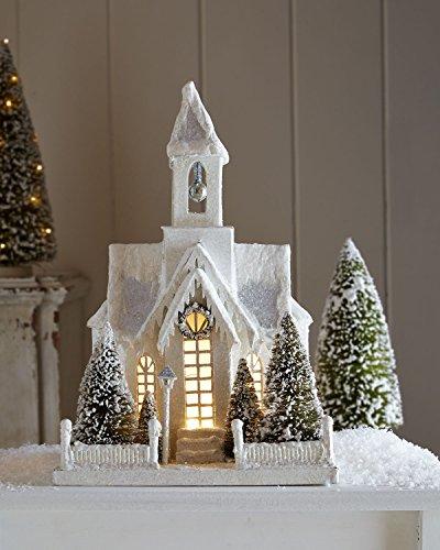 Christmas Decor - Bethany Lowe Designs - Large Ivory Church