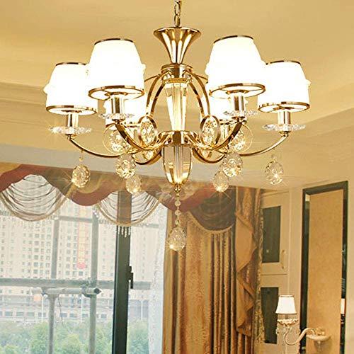 Lámpara de araña de 6 luces con diseño de conteo francés E14, estilo vintage, bronce antiguo, de metal, para colgar en la isla de la cocina