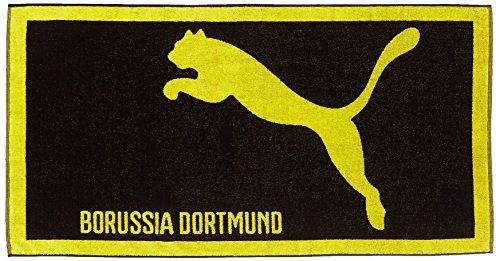 Puma Unisex Handtuch BVB Fußball Team, schwarz/cyber gelb, one size, 746492 01