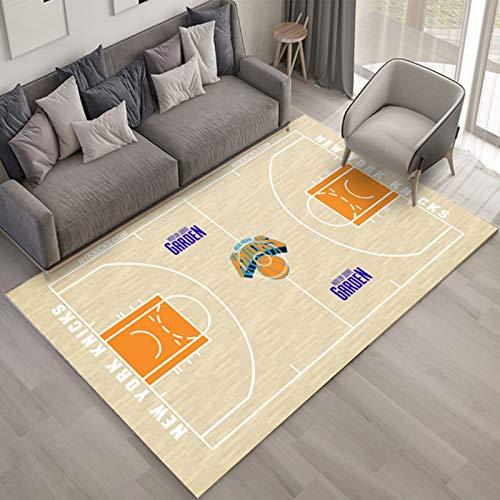 WYBY Moda Creative Carpet-New York Knicks Corte de Baloncesto Alfombra-Mejor Regalo para Fan Amigos/Niños/Compañeros de Clase 80 * 120cm