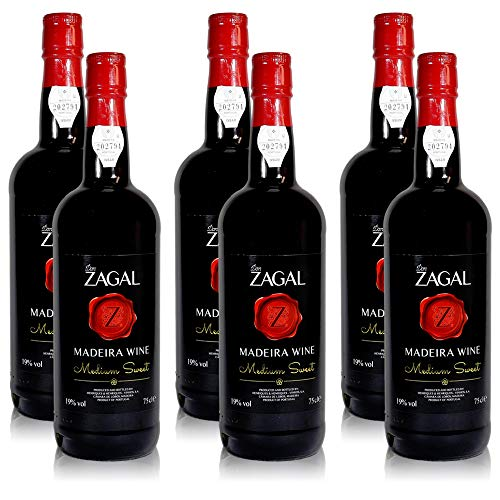 6 Flaschen Don Zagal Medium Sweet Likör Wein aus Madeira (6 x 0,75 l)