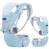 BabyPro 360 Baby Carrier with Hip Seat, 9 Ergonomic Positions, All Season Baby Sling for Newborns Infants Toddlers, Hands Free Baby Wrap Front and Backpack for Travel