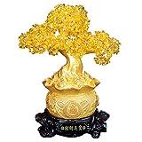 DCLINA Escultura Estatua Cristal Grande Chakra del Dinero del árbol Feng Shui para la Riqueza y la B...