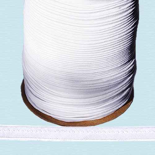 """NY Binding Piping Cord ~ 3/8"""" Piping Cord -1/8"""" Filler Cord White (10 Yards/Pack) for Masks & Shields"""