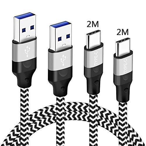 MZBESTCable Cavo USB Type-C 2M 2M Carica Rapida per Xiaomi Redmi Note 10 9S 9 PRO,Mi 10T Lite,Samsung A31 A42 A32 A72 5G A12,Huawei P20 P30,Motorola G7 G8 G9 G10