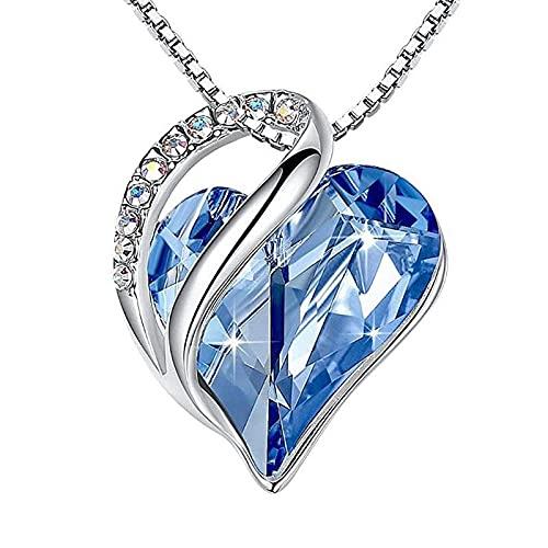 CHENLING Collares de joyería para mujer con colgante de cristal para mujer, aniversario, cumpleaños, día de la madre, joyería para mamá y mujer