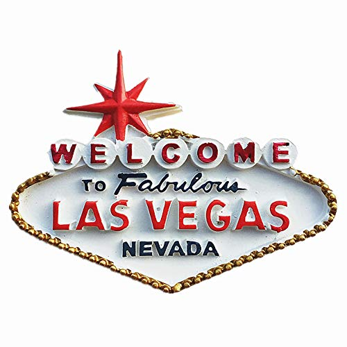 Kühlschrankmagnet, Motiv: berühmtes Casino Las Vegas Nevada USA, Souvenir, Geschenkkollektion, Dekoration für Zuhause und Küche, Magnet-Aufkleber, Las Vegas Amewrica