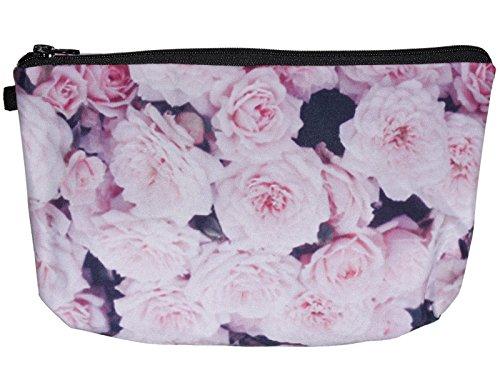 scarlet health | Kosmetiktasche »Beauty« für die Handtasche und als Kulturbeutel auf Reise; kleine, kompakte Schminktasche für Make-Up etc. (Rosen)