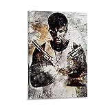 yingzi 50 Cent Poster, dekoratives Ölgemälde, Leinwand,