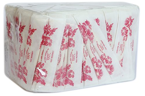 Amatahouse Aro 1000 Individually Wood Toothpicks Wrapped / Flower Paper Bags Plain Round Wood Wrapped Sealed (500x2)
