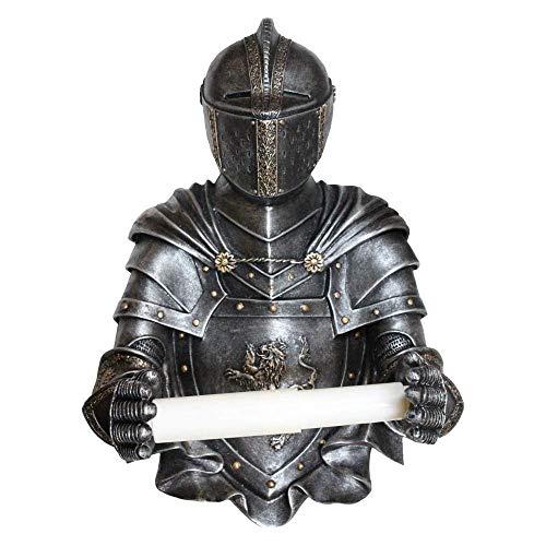 Pfiffig-Wohnen Toilettenpapier Halter als historischer Ritter