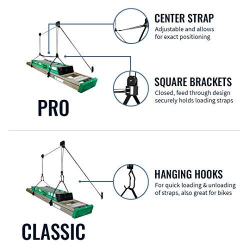 StoreYourBoard Ladder Ceiling Storage Hoist, Hi Lift Home and Garage Organizer Pulley Rack, Pro