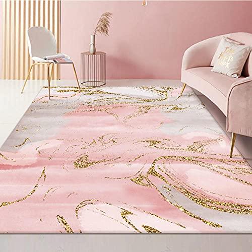 Alfombr Moderno Grande Antidesli zanteDecoración del Hogar Alfombra Gradiente Simple Oro Blanco Rosa Dorado Usado para Dormitorio De Salón Cuarto de baño alfombras 200x300cm