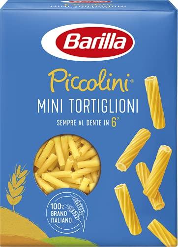 Barilla Pasta Mini Tortiglioni Piccolini, Pasta Corta di Semola di Grano Duro 100% Italiano, 500 gr