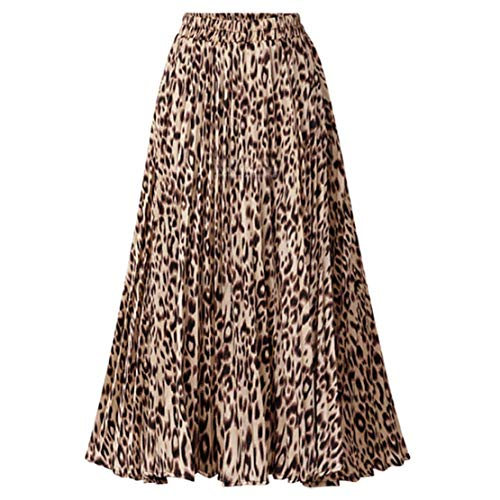 Easy to wash by hands or machine wash Features: stretchy high waisted, flowy and swing a line fashionable and stylish leopard printed maxi midi long pleated skirt Good and Nice skin-friendly fabric, fine cut hem, feel comfortable to wear all day This...