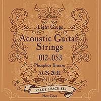 【3セットパック】 ARIA アリア アコースティックギター弦 AGS-203L 〔np〕