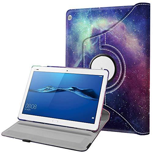 Fintie Hülle für Huawei Mediapad M3 Lite 10 - 360 Grad Rotierend Stand Schutzhülle Cover mit Ständerfunktion & Auto Schlaf/Wach Funktion für Huawei Mediapad M3 Lite 10,1 Zoll Tablet, Die Galaxie
