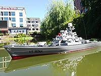 ルイジアナクラスの巡洋艦RCの軍艦24インチスーパーロングハルRCボート充電軍事子供のおもちゃの男の子電気おもちゃの船の航空母艦軍艦モデルを起動することができます
