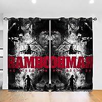 実用的 Rambo (2) カーテン 遮光 断熱 可愛おしゃれ インテリア 寝室 リビング 子供部屋 外から見えにくい カーテン( 幅132cm*丈183cm 2枚入)