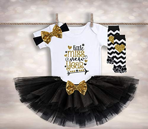 Little Miss 2019 New Years Eve Bodysuit Outfit For Baby Girl