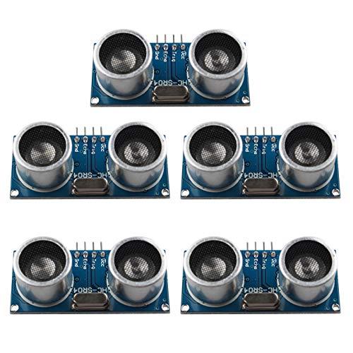 HALJIA 5PCS HC-SR04 Ultrasonic Sensor Distance Measuring Module Compatible with Arduino