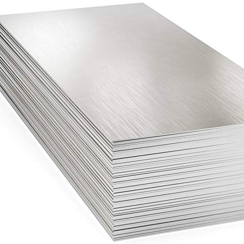 430 Stainless Steel Sheet Metal (4 Pack) 24GA - 48' x 120' #4 Brushed Finish - 4ft x 10ft, 4' x 10', 4x10. Perfect for Food Grade, Truck, Restaurant, Wall, Floor, Trailer, Garage, Gym