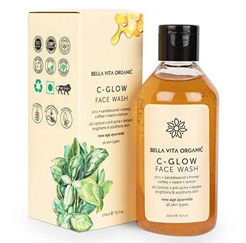 MH Group Bella Vita Organic Vitamin C Face Wash For Oily to Normal Skin women & men, Hydration, Brightening, Pore Cleansing, Detan, Pigmentation, Blemishes, Acne & Sensitive Skin, Sulfate & Paraben Free