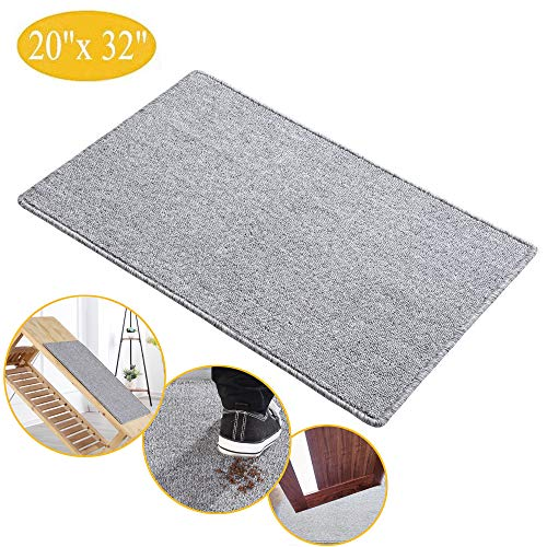 "Indoor Doormat Super Absorbent Mud Mat, Magic Non Slip Door Mat Dirts Trapper Mat, Outdoor XL Doormat for Bathroom, Front, Inside and Entry Machine Wash Gray Rug (32"" x 20"" Large Mat) (G)"