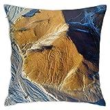 baoan Funda de almohada Nazca Line Home Throw Funda de cojín decorativa cuadrada 45 x 45 cm