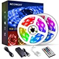 Led Strip Lights 32.8ft 10m Color Changing Non Waterproof LED String Lights with SMD 5050 RGB 300 LEDs Light Strips and 44 Keys IR Remote 12V Power Supply for Home, Bedroom, Kitchen, Christmas