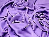 Seidiger Satin Kleid Stoff lila–Meterware + Gratis